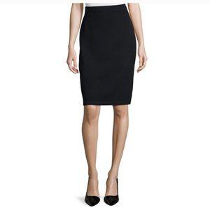 St John Evening Black Knit Pencil Skirt Size 6